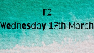 Wednesday 17th March F2 home learning