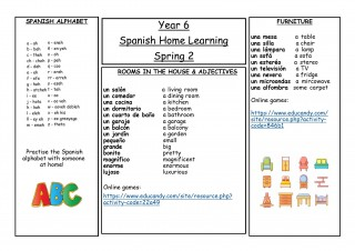 Year 6, Spring 2, Spanish Home Learning