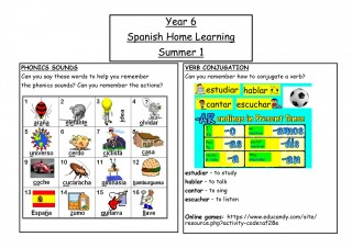 Y6 Spanish Home Learning